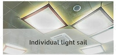Individual light sails, light sail to measure