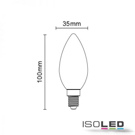 E14 LED candle lamp 4W milky warm white