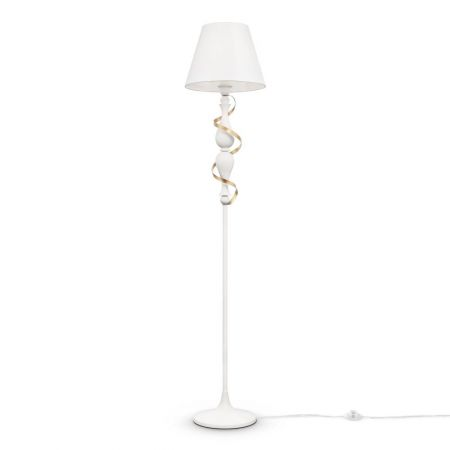 Maytoni antique floor lamp Intreccio white