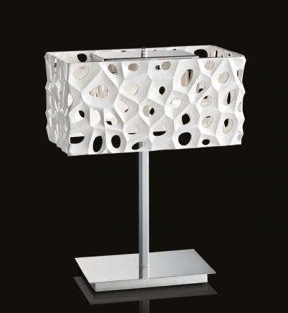 Illuminati square table lamp Aqua  - EEK: A++ (Spektrum: 0 bis 0)