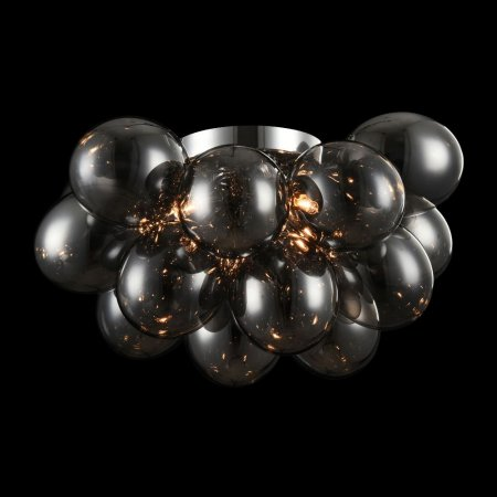 Maytoni smoked glass ceiling lamp Balbo Ø:38cm