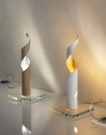 Braga twisted LED table lamp Truciolo