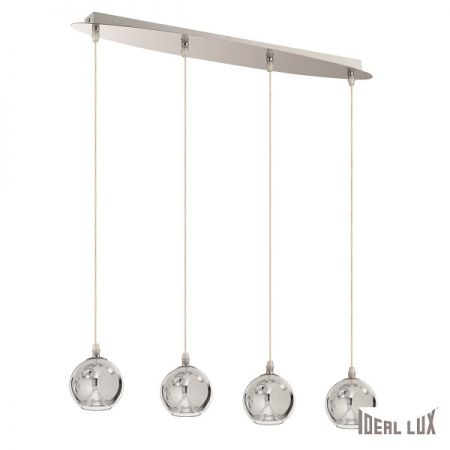 Ideal Lux glass pendant lamp Discovery chrome G9  - EEK: A++ (Spektrum: A++ bis E)