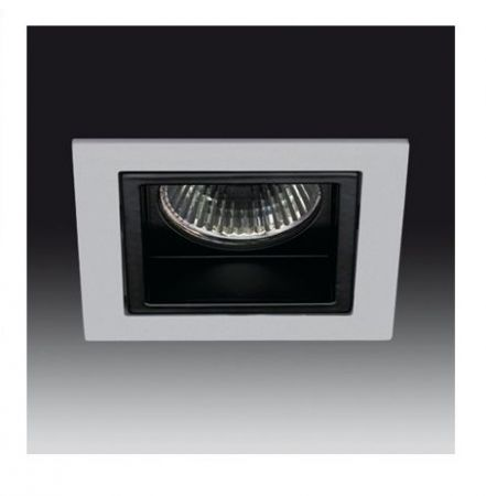 Square recessed spotlight Ref. 180 silver/black