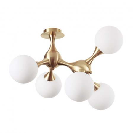 Golden ceiling lamp Nodi by Ideal Lux