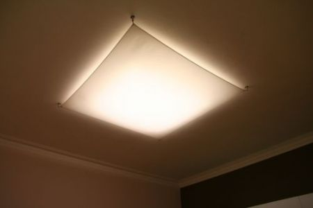 Light sail LED sail cloth ceiling lamp  - EEK: A+ (Spektrum: 0 bis 0)