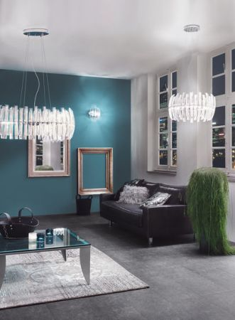 Eglo Drifter crystal glass chandelier, Ø:55cm