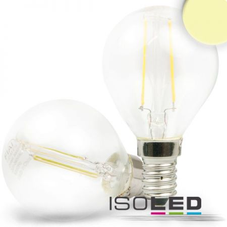 E14 LED drop lamp 2W warm white, clear  - EEK: A+ (Spektrum: 0 bis 0)