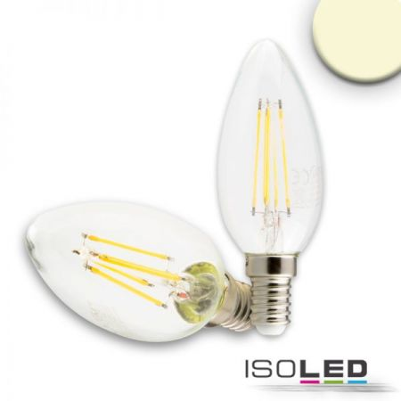 E14 LED candle lamp 4W dimmable warm white, clear  - EEK: A+ (Spektrum: A+ bis A+)