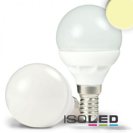 E14 LED drop lamp 5W warm white  - EEK: A (Spektrum: 0 bis 0)