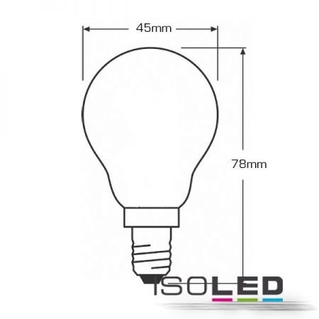 E14 LED drop lamp 4W dimmable warm white, clear