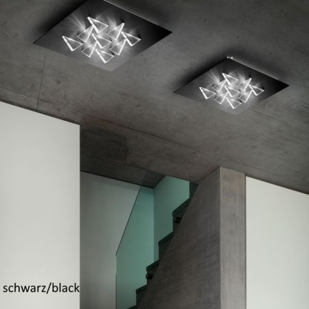 Braga LED ceiling lamp Cristalli PL60 triangular