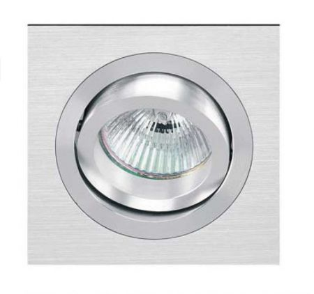 Onok square recessed spotlight 192 alu brushed  - EEK: A++ (Spektrum: 0 bis 0)