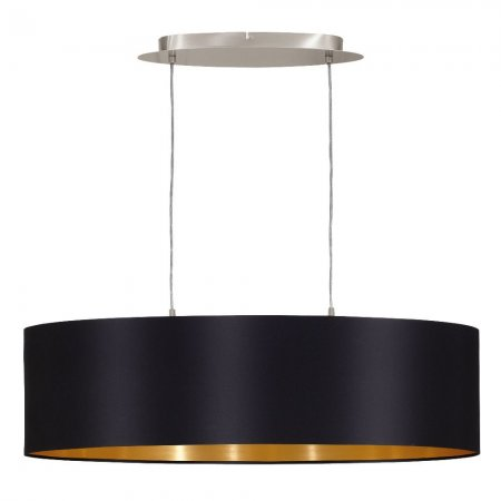 Dining table hanging lamp Maserlo black gold L:78cm