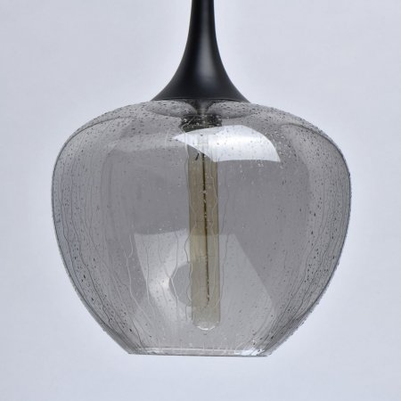 Smoked glass pendant lamp Bremen 40