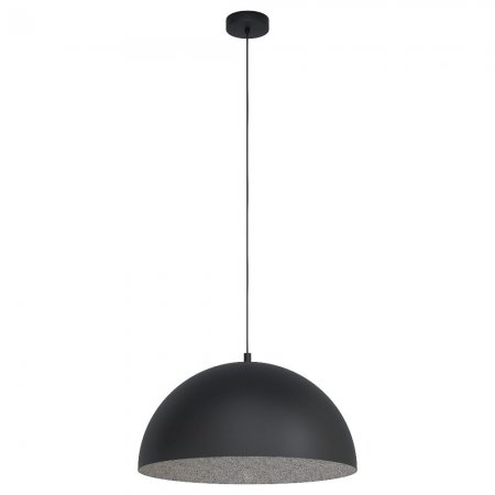 Globe hanging lamp Gaetano E27 black grey