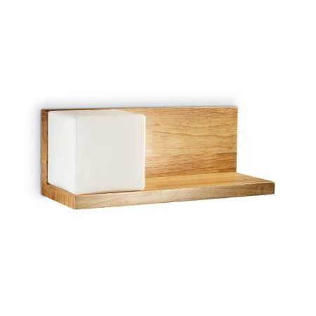 Ideal Lux Holz Wandleuchte Toledo 1 links / B-Ware