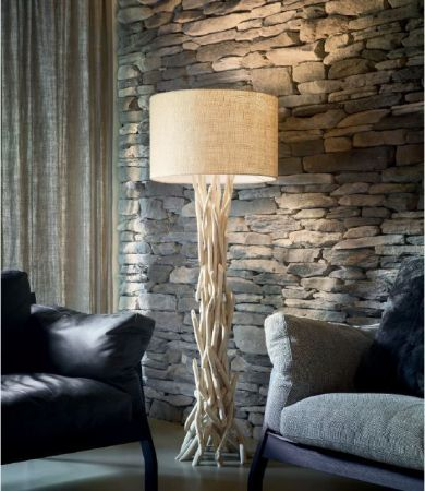 Ideal Lux wood floor lamp Driftwood