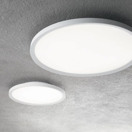 Ideal Lux flat LED ceiling lamp Ufo white