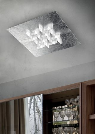 Braga LED ceiling lamp Cristalli PL80
