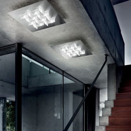 Braga LED ceiling lamp Cristalli PL60