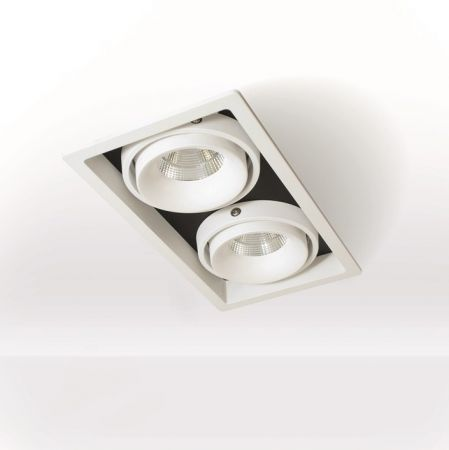Planlicht square LED downlight Suez Twin 2-flames