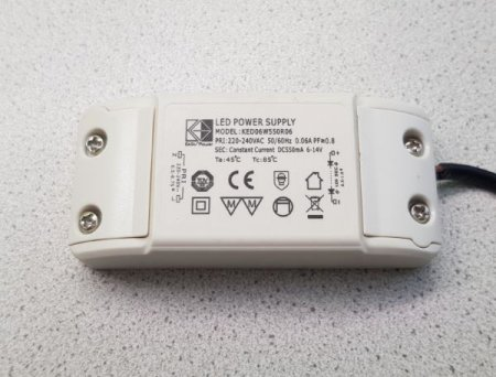 LED power supply 6W DC 550mA