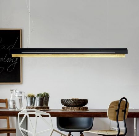 Braga long LED pendant light Bend dimmable