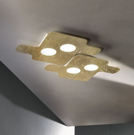 Braga square LED ceiling lamp Puzzle 50cm  - EEK: A+ (Spektrum: 0 bis 0)