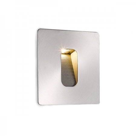 Outdoor LED step lighting square stainless steel, IP65