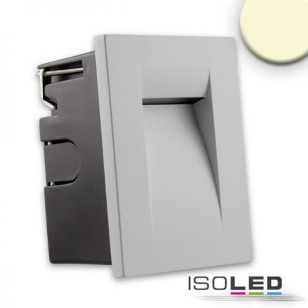 Outdoor LED wall recessed lamp silver-grey, IP65