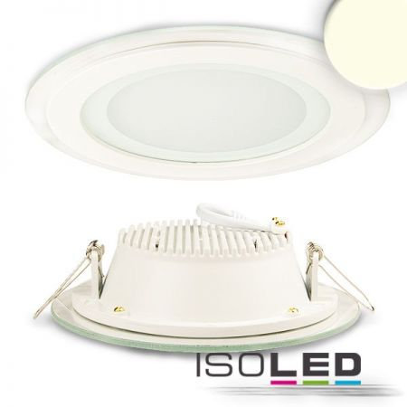 LED glass downlight round 12W neutral white, IP44