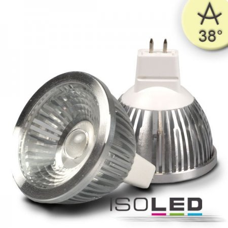 MR16 LED spot 12V 5,5W 38° warm white, dimmable  - EEK: A+ (Spektrum: 0 bis 0)
