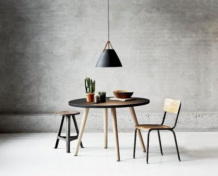 Pendant lamps Strap 36 black for kitchen table