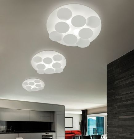 Braga Nuvola LED wall/ceiling lamp Ø60cm  - EEK: A+ (Spektrum: 0 bis 0)