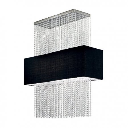 Ideal Lux square crystal pendant lamp Phoenix