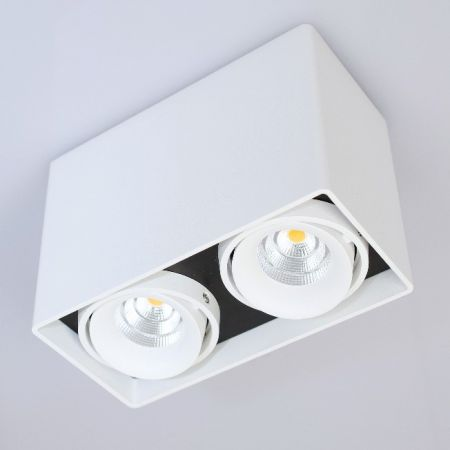 Planlicht LED cube ceiling lamp Dundee twin 2-flames  - EEK: A (Spektrum: 0 bis 0)