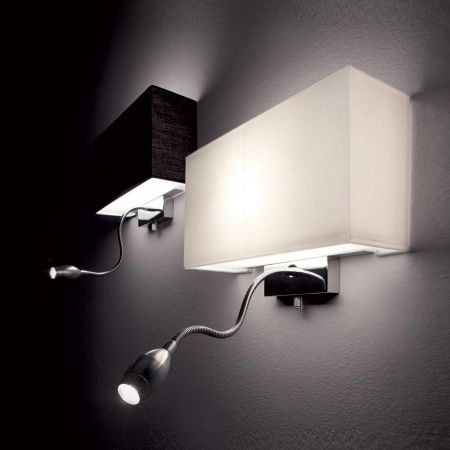 Ideal Lux LED reading lamp wall light Hotel