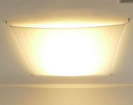 Sail cloth for light sail lamps
