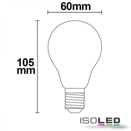 E27 LED bulb clear 5W warm white dimmable