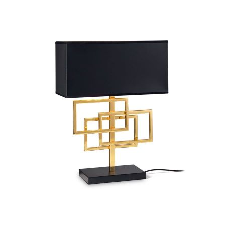 Ideal Lux square table lamp Luxury black
