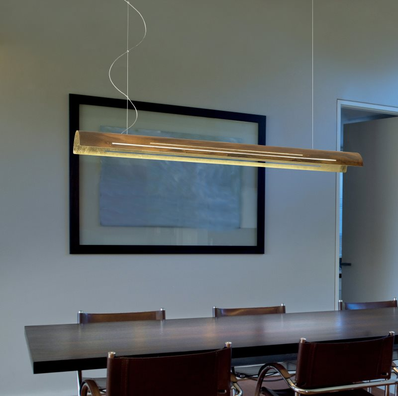 Braga Bend Led Pendant Lamp Oxydized Gold Lichtakzente At