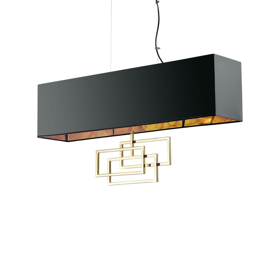 Ideal Lux square pendant lamp Luxury buy now Lichtakzente.at