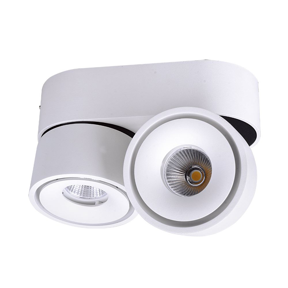 LED ceiling spotlight Lahti 2 flames white