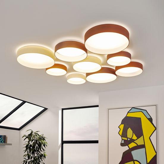 palomaro eglo led stoff deckenleuchte 50cm. Black Bedroom Furniture Sets. Home Design Ideas