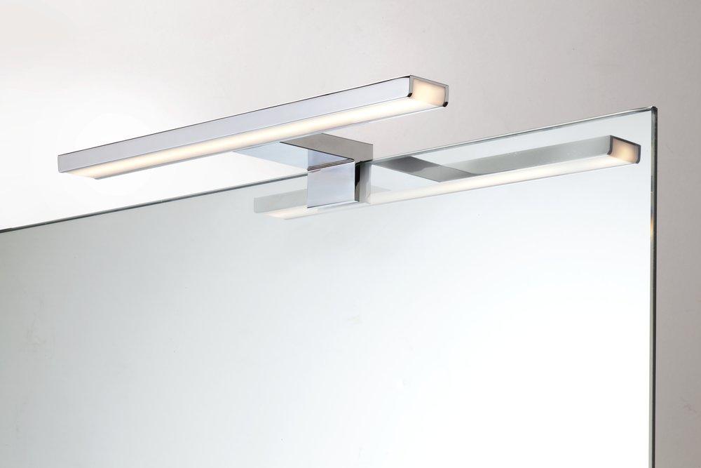 Extremely LED Spiegelleuchte Aalto Chrom 80cm- Lichtakzente.at XD93
