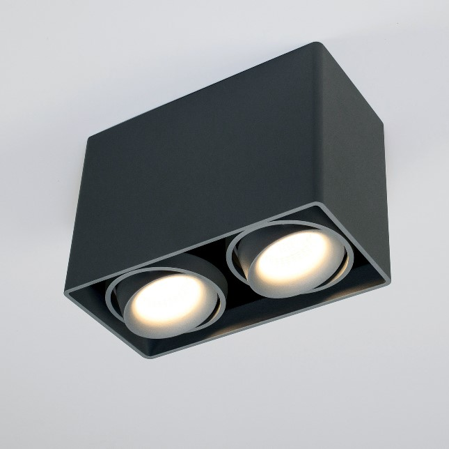 Planlicht LED cube ceiling lamp Dundee twin 2 flames