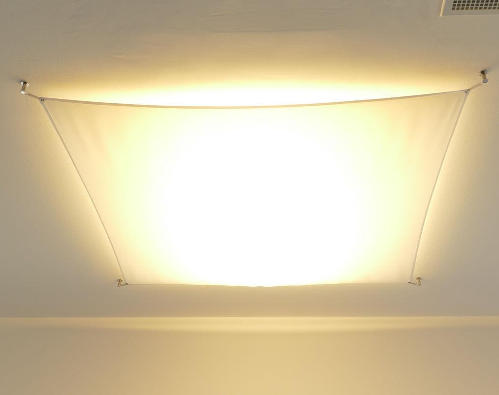 passende schlafzimmer lampen in stoff