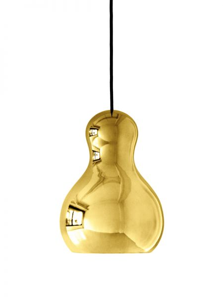 Gold verchromte Pendelleuchte Calabash Light Years P1