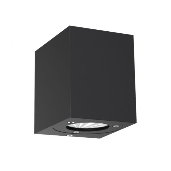 Square outdoor LED wall lamp Canto Kubi IP44 black